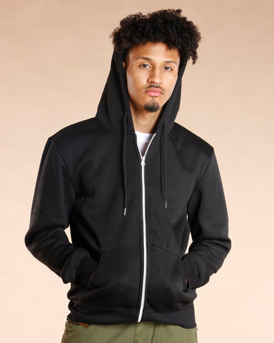 VIM Knitted Fleece Hoodie - Black - Vim.com