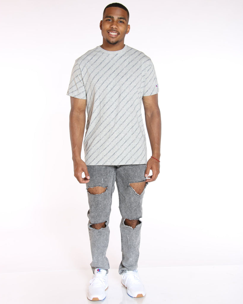 CHAMPION Champion Diagonal Tee - Oxford Grey - Vim.com