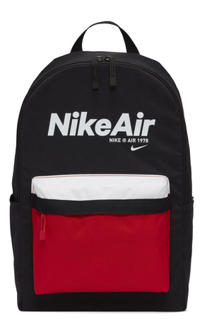 NIKE-Air Heritage 2.0 Backpack - Black Red White-VIM.COM
