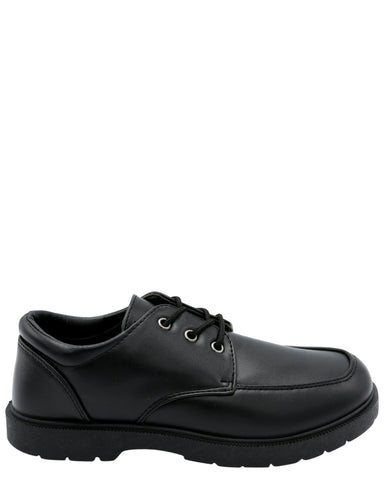 VIM Boy'S Lace Up School Shoe (Pre School) - Black - Vim.com