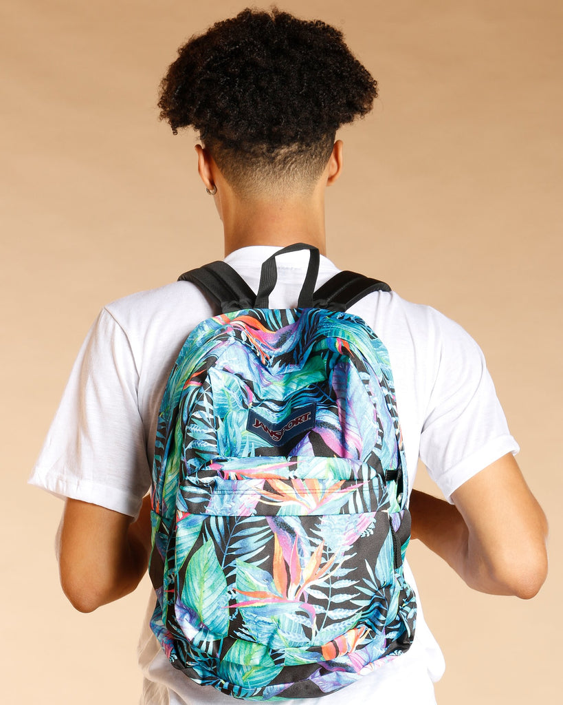 Jansport Super Break Backpack - Vivid Paradise - Vim.com