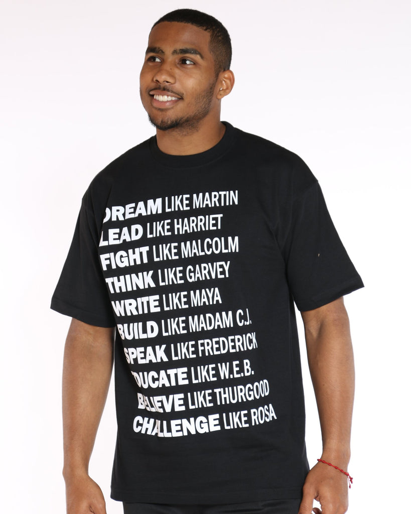 VIM Motivational Printed Tee - Black - Vim.com