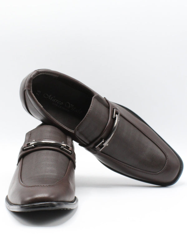 VIM Men'S Slip On Buckle Print Shoe - Brown - Vim.com