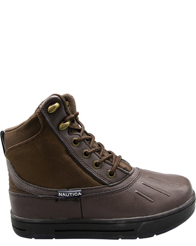 NAUTICA-Boys' New Bedford Waterproof Duck Boots (Pre School/Grade School) - Brown-VIM.COM