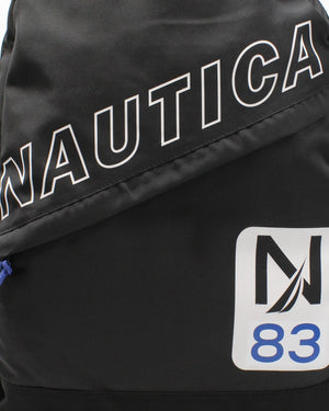 NAUTICA Nautica Diag Zip Backpack - Black - Vim.com