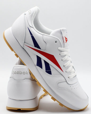 REEBOK-Men's Classic Leather Vector - White Red Blue-VIM.COM