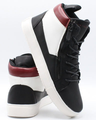 VIM Men'S Bruno Sneaker - Black Red - Vim.com