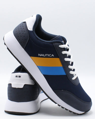 NAUTICA-Men's Aport Sneaker - Navy Blue Yellow-VIM.COM