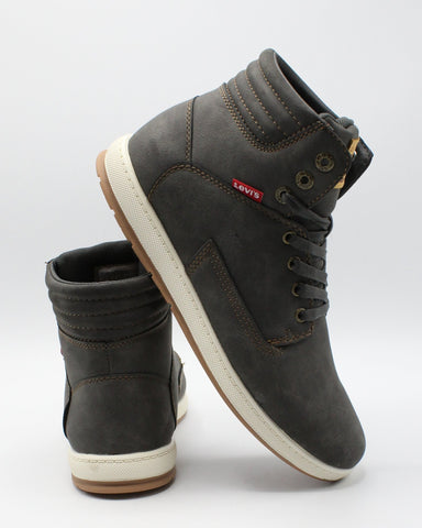 LEVI'S-Men's Fletcher Waxed Sneaker - Grey-VIM.COM