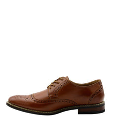 Parrazo Men'S Moc Toe Stitch Perfection - Brown - Vim.com