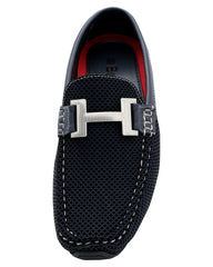 Brixton Men'S Driving Moc Buckle Slip On Shoe - Navy - Vim.com
