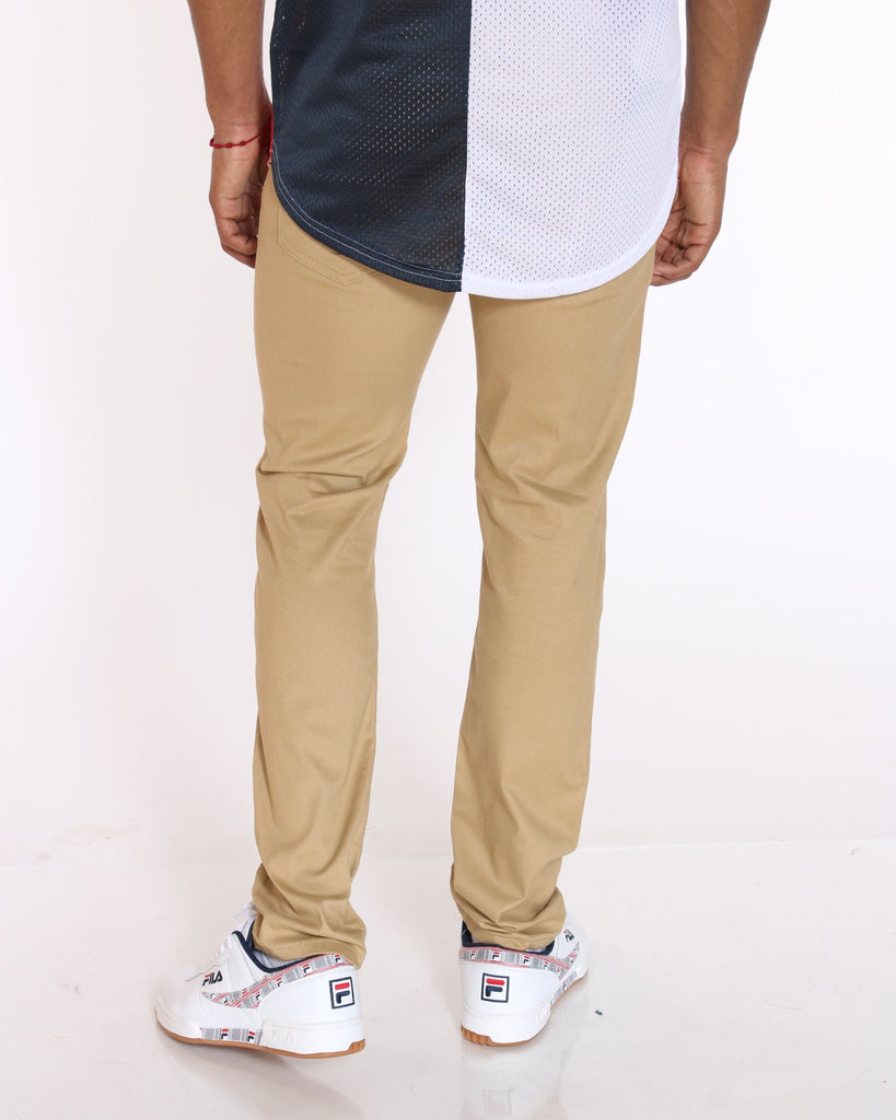 VIM John Twill Embroidered Pocket Pant - Khaki - Vim.com