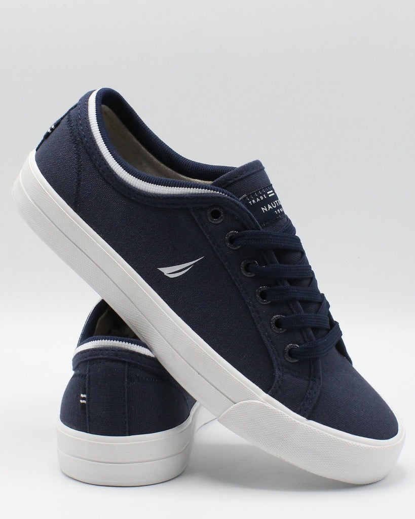NAUTICA Men'S Hull 3 Canvas Sneaker - Navy - Vim.com