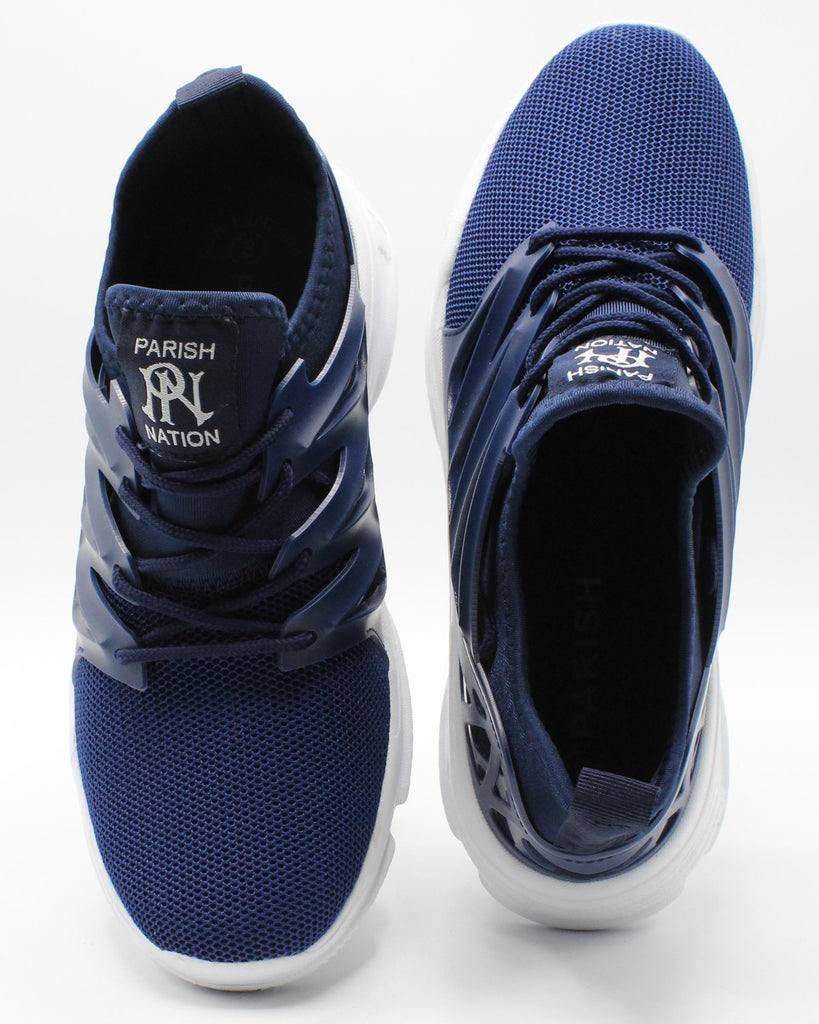 PARISH NATION Men'S Slip On Mesh Sneaker - Royal - Vim.com