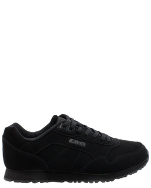 FILA-Men's Cress Low-Top Sneaker- Black-VIM.COM