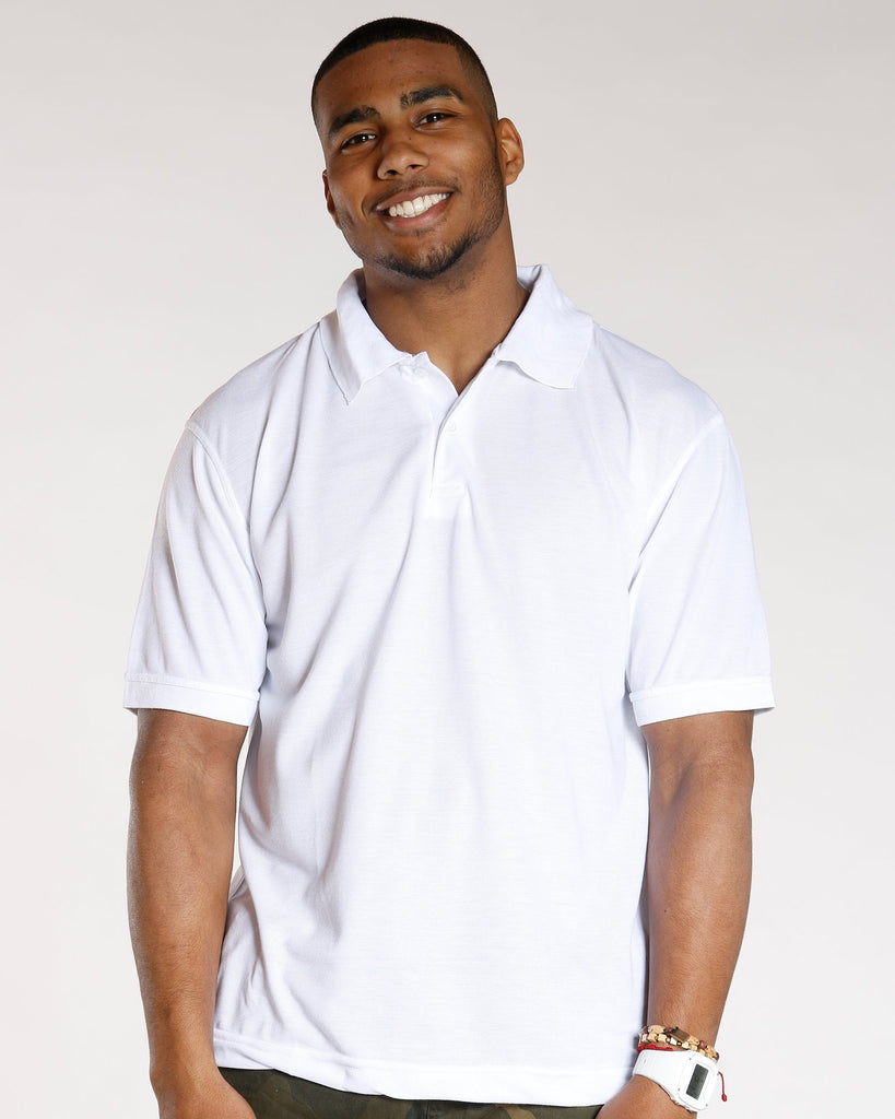 VIM Basic 2 Button Polo Shirt - White - Vim.com