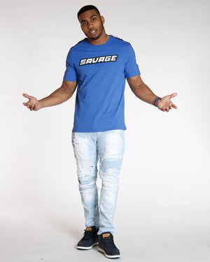 VIM Savage Shoulder Taping Tee - Blue - Vim.com