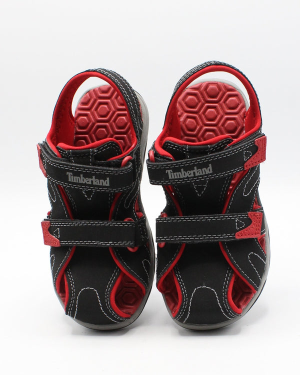 TIMBERLAND Adventure Seeker Closed Toe Sandal (Infant/Toddler) - Red - Vim.com