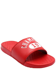 CHAMPION C Life Slide Sandal (Grade School) - Red - Vim.com