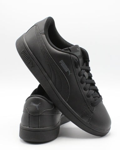 PUMA Smash V2 L Jr (Grade School) - Black - Vim.com