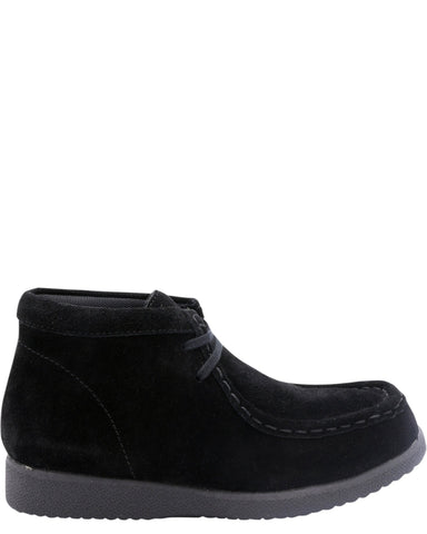 Hush Puppies Boys' Bridgeport Original Suede Boots (Grade School) - Black - Vim.com