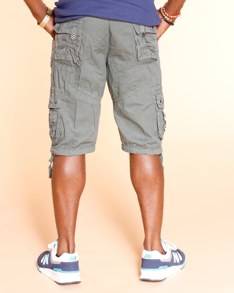 VIM Terrance Belted Cargo Shorts - Charcoal - Vim.com
