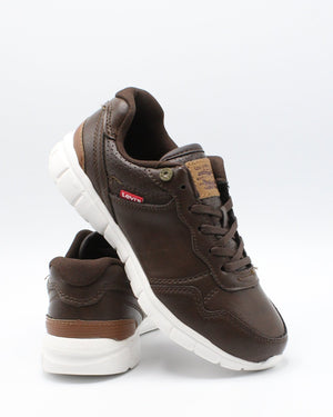 LEVI'S-Colby Burnish Sneaker (Pre School) - Brown-VIM.COM
