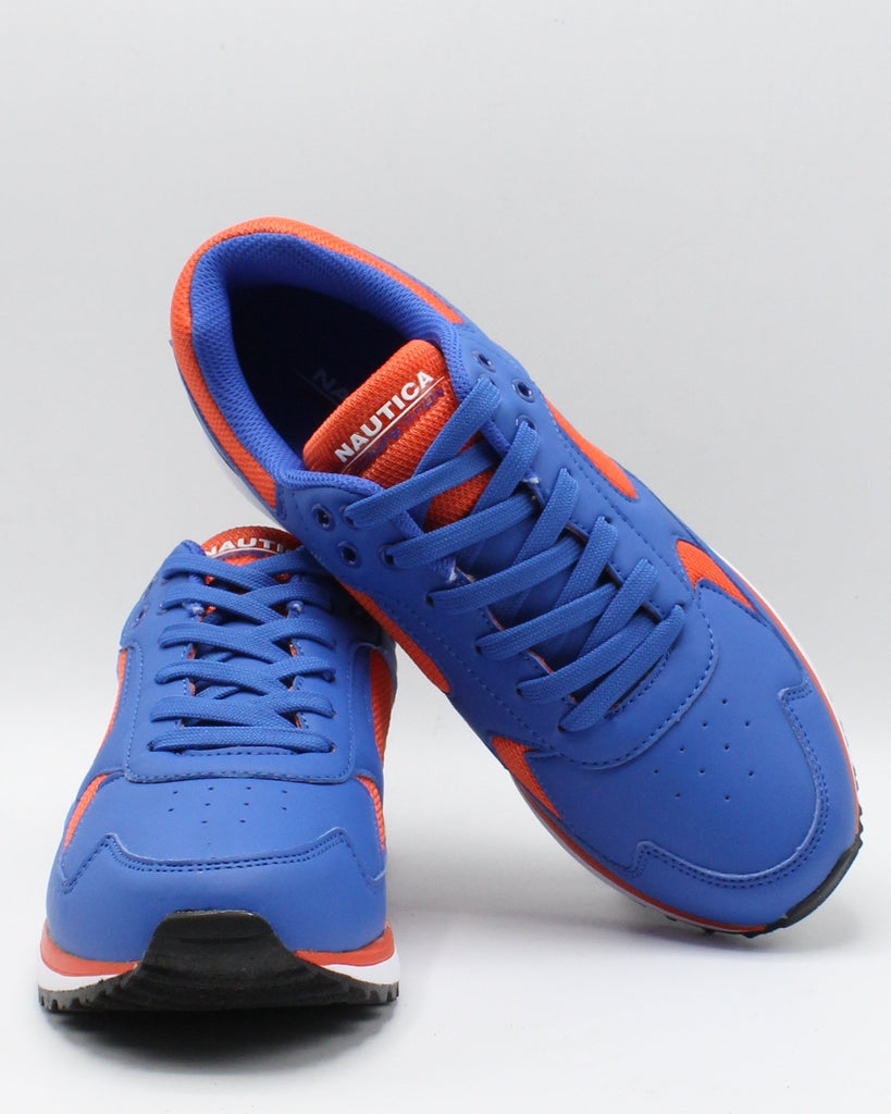 NAUTICA Men'S Del Rio Sneaker - White Blue Orange - Vim.com