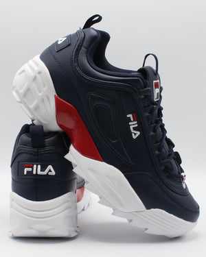 FILA-Men's Disruptor Ii Lab Sneaker - Navy Red White-VIM.COM