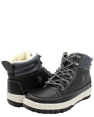 U.S. POLO ASSN. Men'S Fur Lining Boot - Black - Vim.com