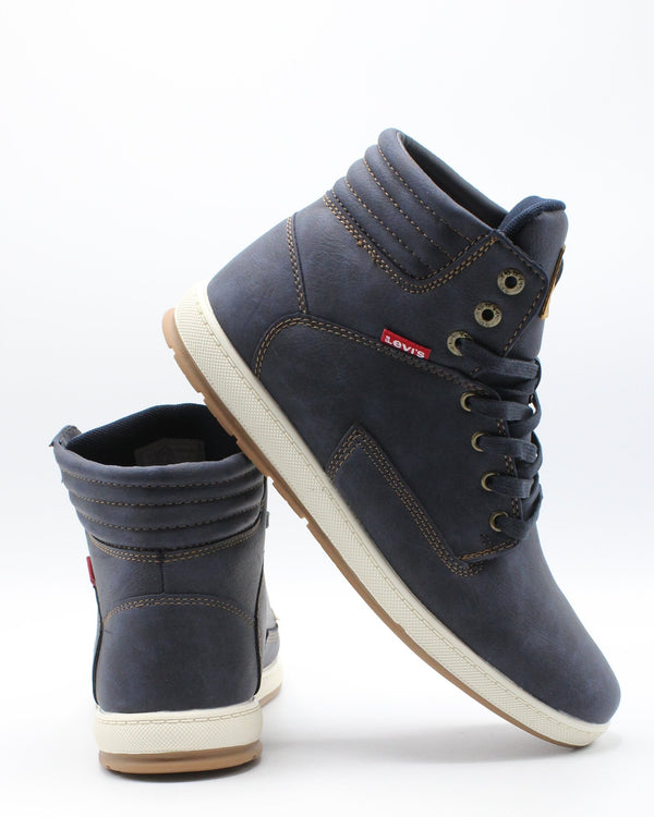 LEVI'S-Men's Fletcher Waxed Sneaker - Navy-VIM.COM