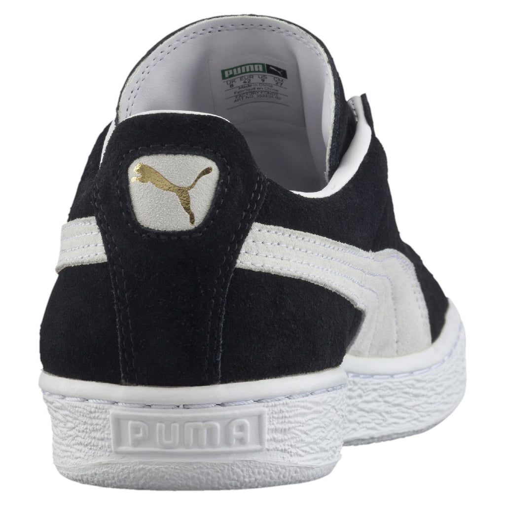 PUMA Men'S Suede Classic + Low Sneaker - Black - Vim.com
