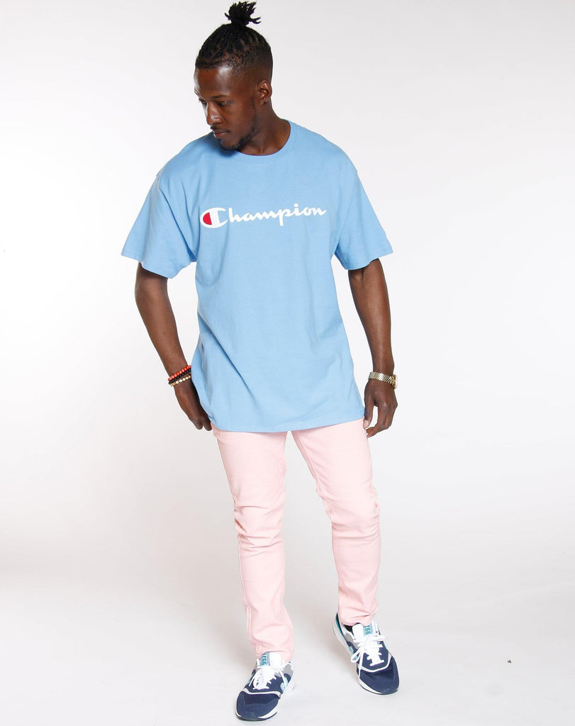 CHAMPION Champion Graphic Jersey Tee - Swiss Blue - Vim.com