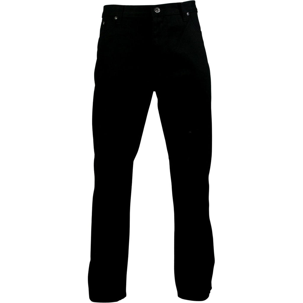 VIM Men'S Embroidery Pocket Straight Fit Jeans - Jet Black - Vim.com