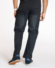 VIM Relax Fit Embroidery Pocket Jean - Black - Vim.com