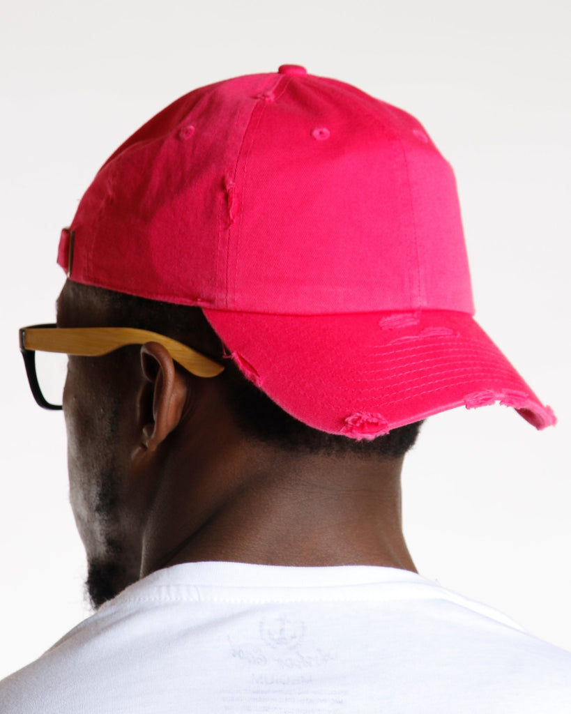 VIM Pink Distressed Dad Hat - Vim.com