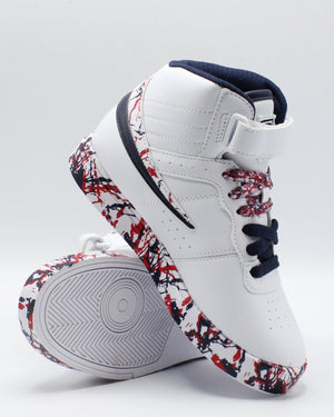 FILA F 13 Mp Marble Sneaker (Pre School) - White Navy Red - Vim.com