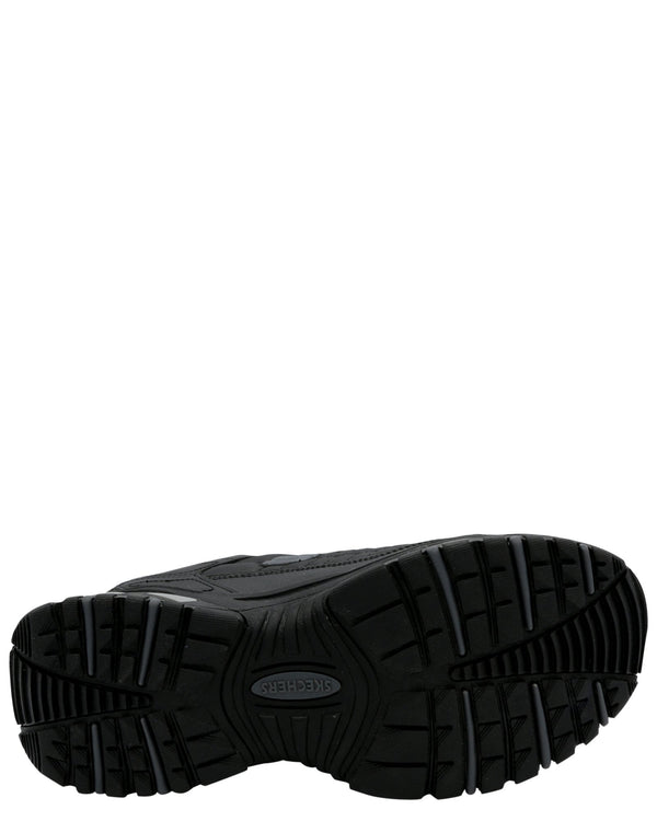 SKECHERS Men'S Energy After-Burn Memory Fit Sneaker (Pre School) - Black - Vim.com