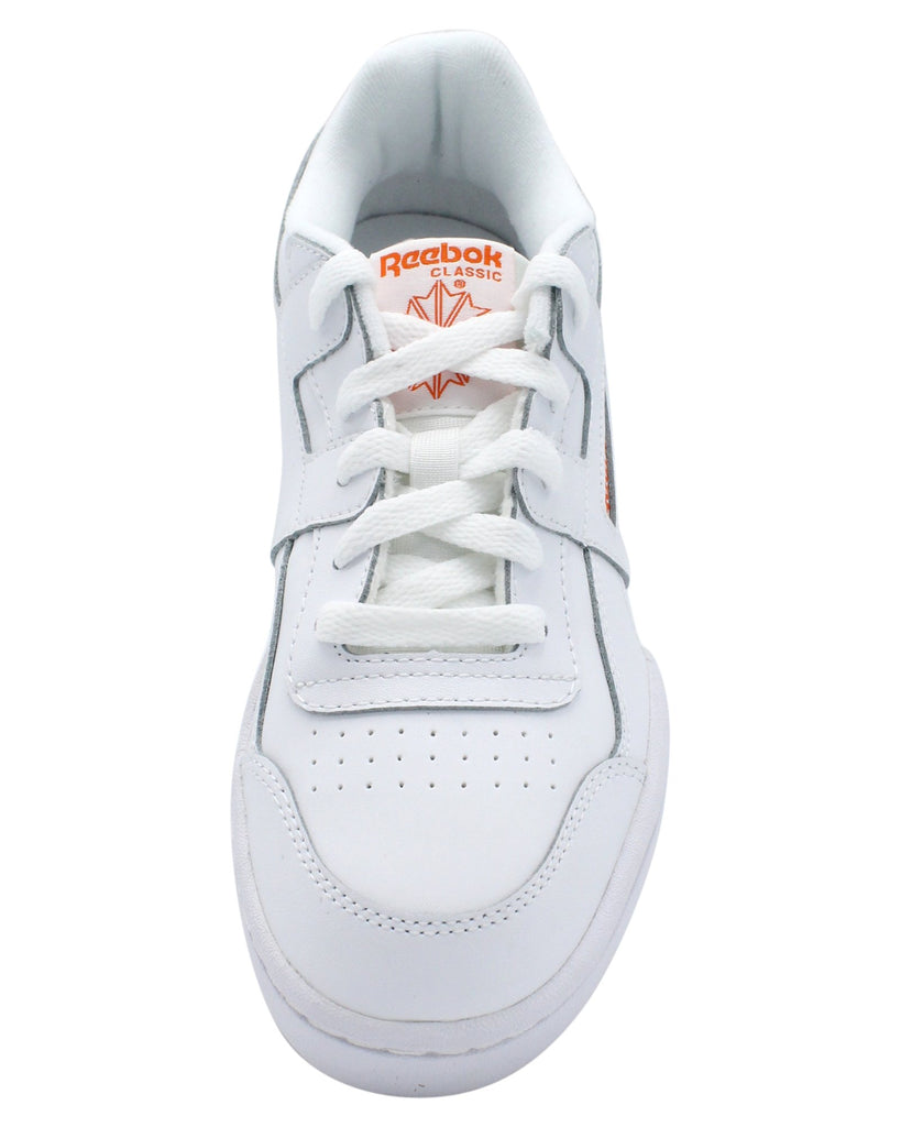 REEBOK Workout Plus Sneaker (Grade School) - White - Vim.com