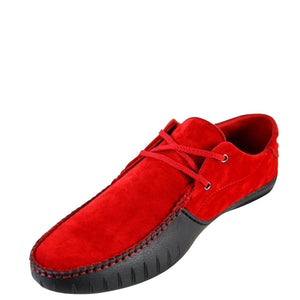 Joy Foot Men'S Lace Up Mock To Dress Shoes - Red - Vim.com