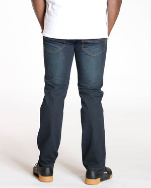 VIM Relax Fit Embroidery Pocket Jean - Dark Blue - Vim.com