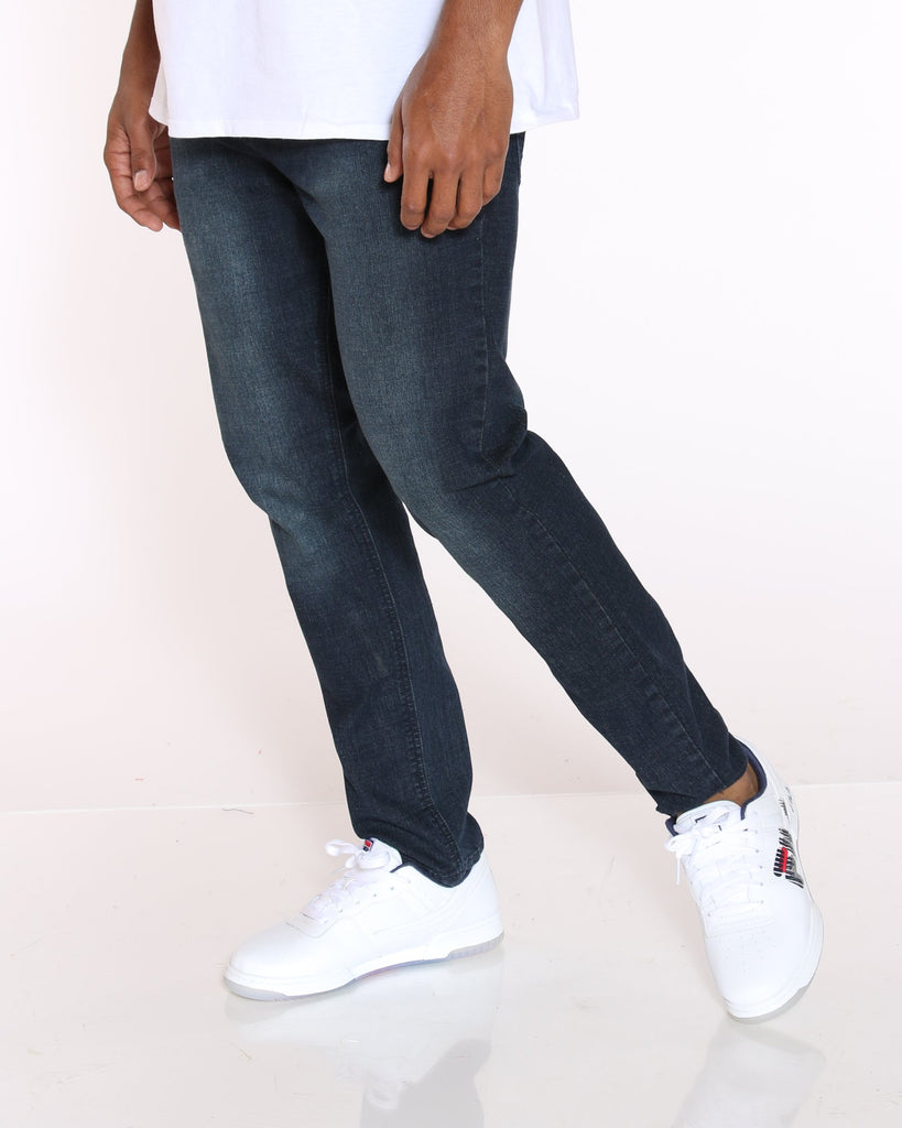 VIM Mike Slim Fit Embroidered Pocket Jean - Dark Wash - Vim.com