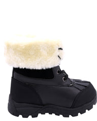 Lugz Boys' Tambora Fur Boots (Toddler) - Black - Vim.com