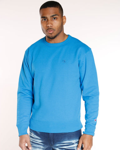 CHAMPION Champion Power Blend Fleece Crew - Deep Blue - Vim.com