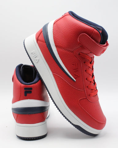 FILA Men'S A-High Top Sneaker - Red - Vim.com