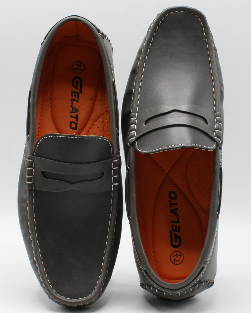 VIM Men'S Casual Loafer Shoes - Grey - Vim.com
