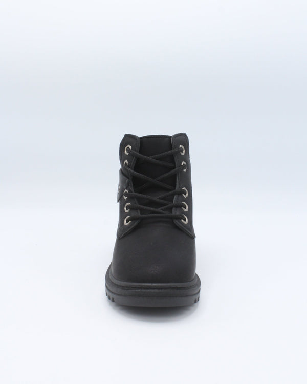 VIM Girls Sweater Top Lace Up Work Bootie - Black - Vim.com