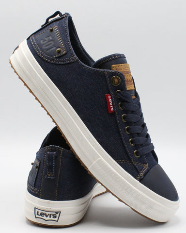 LEVI'S-Men's Neil Low 501 Denim Sneaker - Navy-VIM.COM