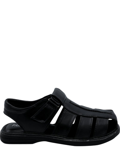 Faranzi Men'S Fisherman Sandal - Black - Vim.com