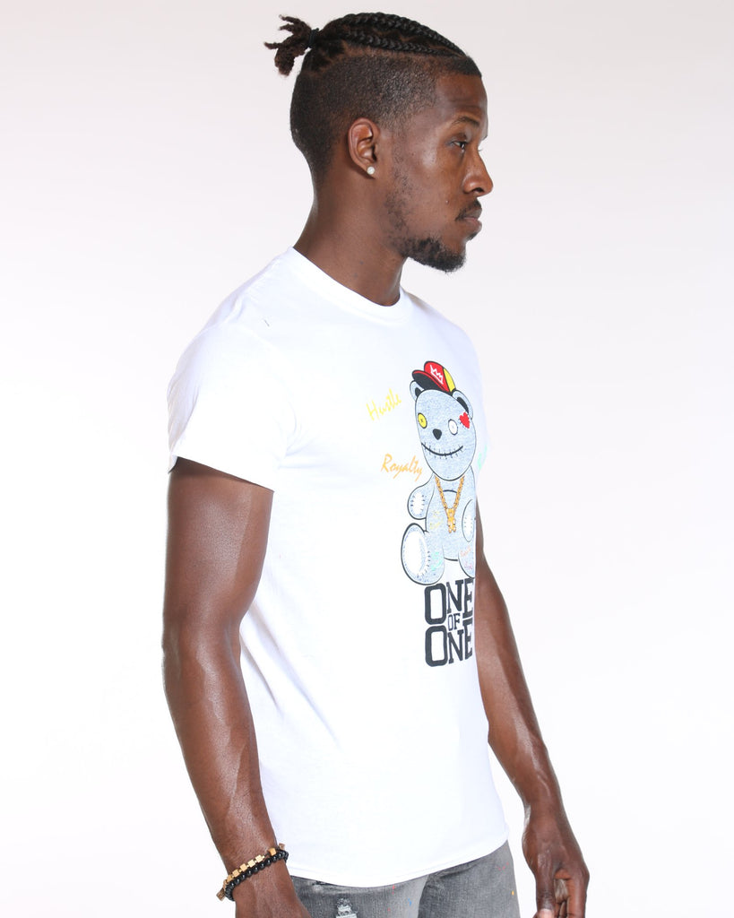 VIM Denim Bear One Of One Tee - White - Vim.com